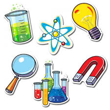test tube, magnet, light bulb, atom