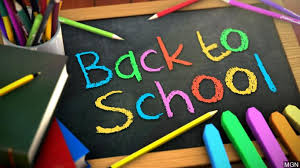 Back to School with chalk board and chalk