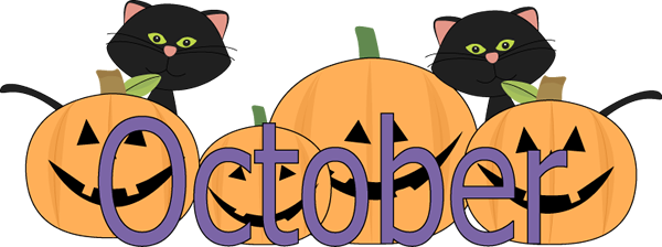 October with pumpkins and Kittens
